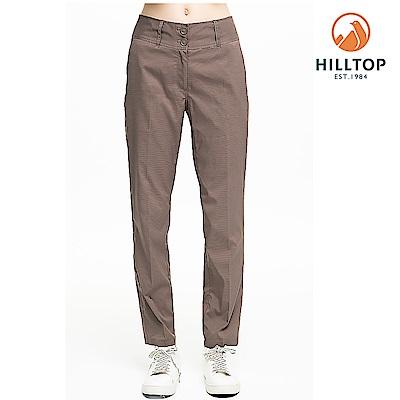【hilltop山頂鳥】女款超潑水抗UV彈性長褲S07FH2咖啡