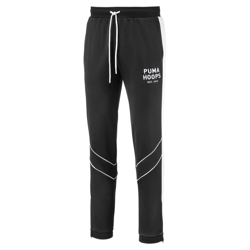 PUMA-男性籃球系列HOOPS SINCE 73休閒長褲-黑色-歐規