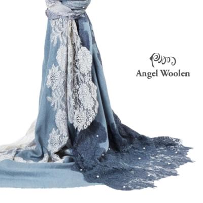 【ANGEL WOOLEN】維納斯印度漸層手工蕾絲釘珠披肩(共三色)