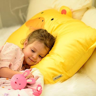 Milo&Gabby 動物好朋友-超細纖維防蹣大枕心+枕套組(DUKE小鴨)