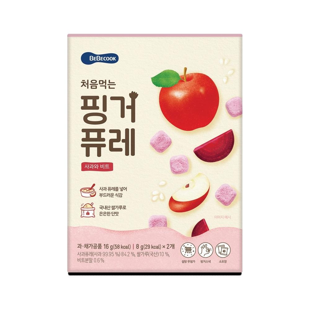 韓國 【BEBECOOK】 嬰幼兒初食綿綿果泥餅(蘋果甜菜)