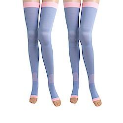 SNUG 越睡越美麗 睡眠美腿襪(紫色)2入組