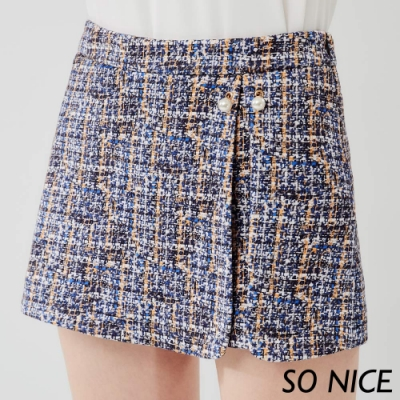 SO-NICE優雅鏤空蕾絲窄裙