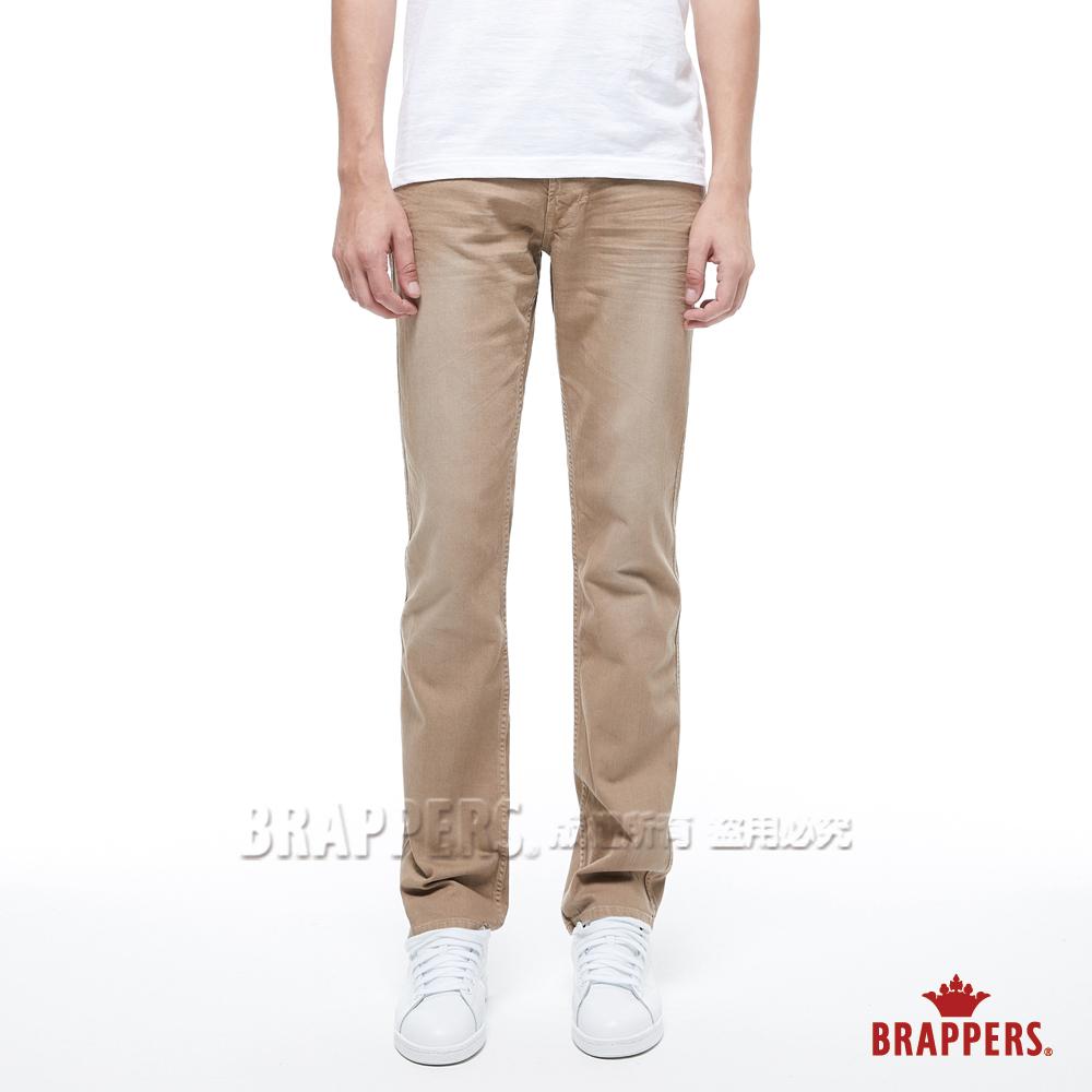 BRAPPERS 男款 中腰彈性直筒褲-卡其