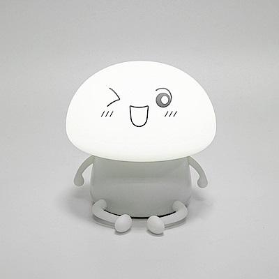 半島良品 多功能矯情Q仔蘑菇舒壓療癒小夜燈- 萌小寶(朦朧白)