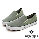 SPERRY 7SEAS 舒適感受無綁帶設計休閒鞋(男款)-橄欖綠