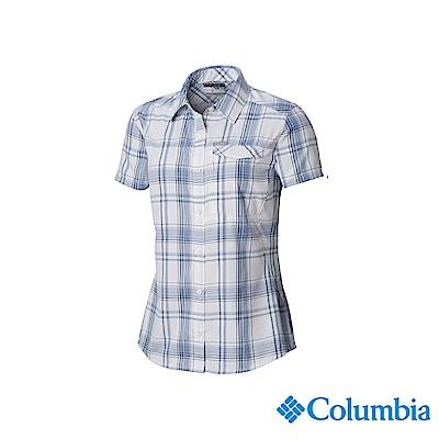 Columbia 哥倫比亞 女款-UPF50 快排短袖襯衫-白色UAK26560WT
