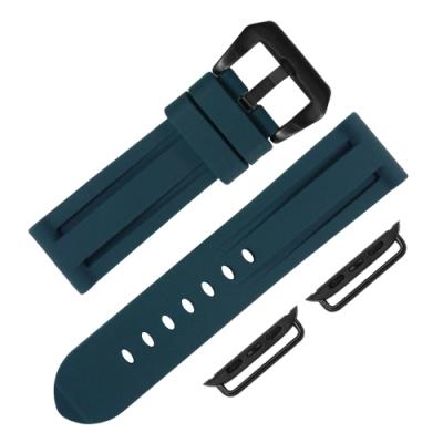 Apple Watch 蘋果手錶替用錶帶 舒適耐用 矽膠錶帶-藍色