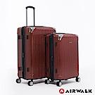 AIRWALK - 都市行旅24+28吋特光立體拉絲金屬護角輕質拉鍊行李箱-共2色