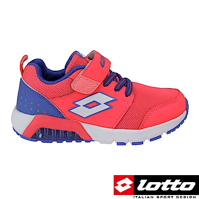 LOTTO 義大利 女中童 G MAX 避震彈力膠跑鞋(玫紅)