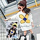 小衣衫童裝  可愛大黃花兒長袖針織毛衣裙1061104