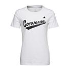 CONVERSE CENTER FRONT白 女短袖上衣-10018268-A04