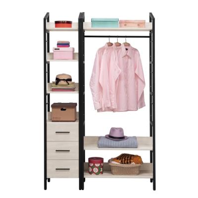 H&D 伊凡卡4尺鐵架衣櫃