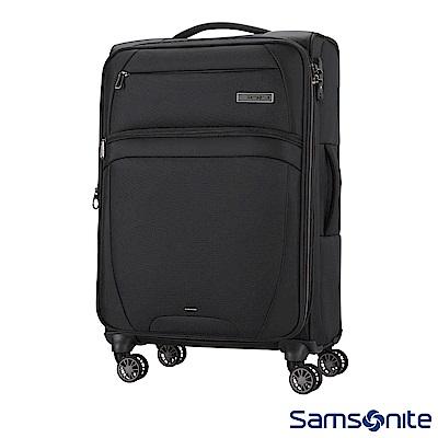 Samsonite新秀麗 24吋 Zira飛機輪可擴充布面TSA行李箱(黑)