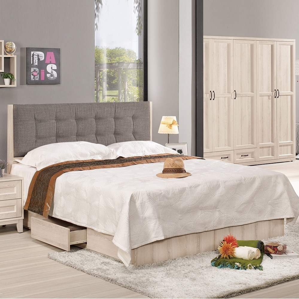 Homelike 可芯抽屜式床台組-雙人加大6尺