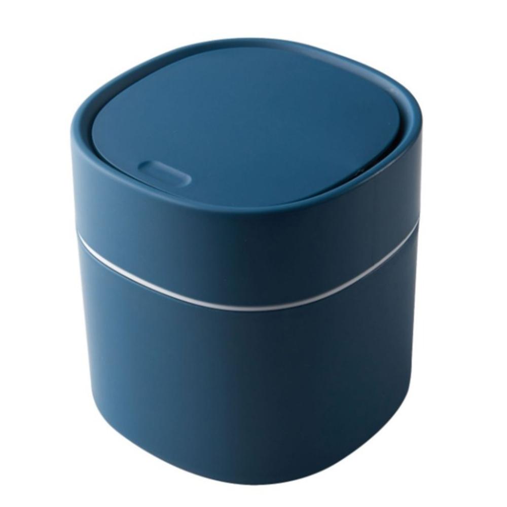 簡約 北歐風 按壓式 彈蓋 迷你 桌面 收納 垃圾桶
