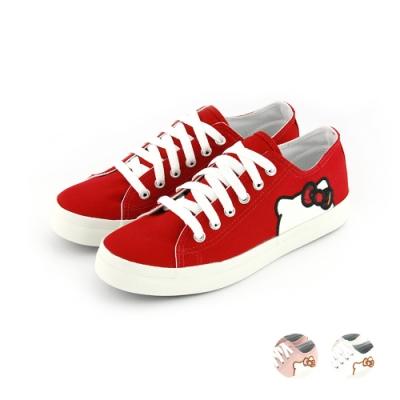 HELLO KITTY艾樂跑女鞋-貼布繡休閒鞋-紅/粉/白(920123)