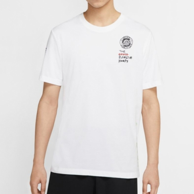 NIKE 短袖上衣 男款 休閒 運動 白 CW4817100 AS SUMMER HOOPS GRAPHIC SS TEE