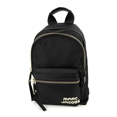 MARC JACOBS TREK PACK品牌Logo尼龍雙層後背包 小/黑色(無說明書)