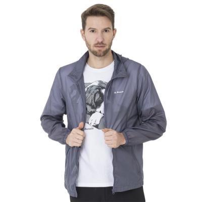 【St. Bonalt 聖伯納】超輕透連帽防曬風衣外套 (18019012 - 深灰) 抗UV 灰色 防曬 輕薄 防風 男款 修身