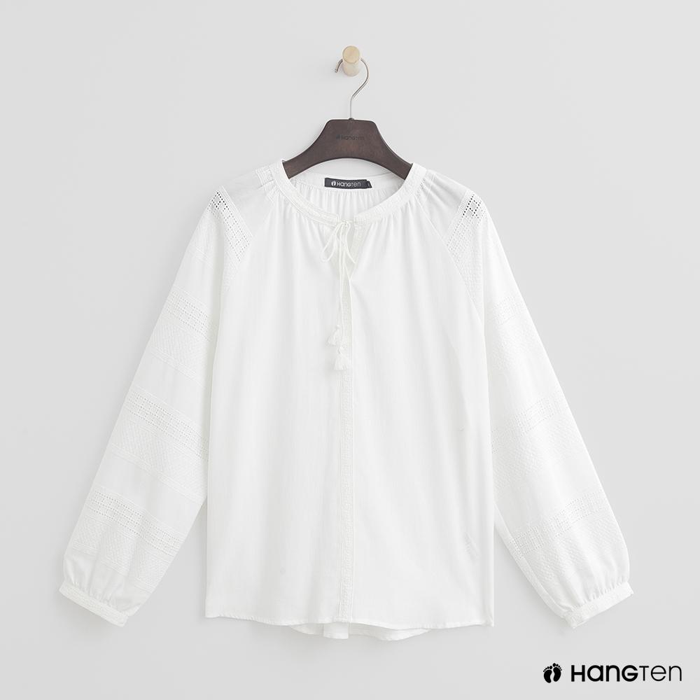 Hang Ten - 女裝 -氣質綁結造型上衣 - 白