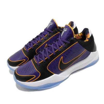 Nike 籃球鞋 Kobe V Protro 運動 男鞋 明星款 曼巴精神 湖人漆皮 球鞋 穿搭 紫 黑 CD4991500