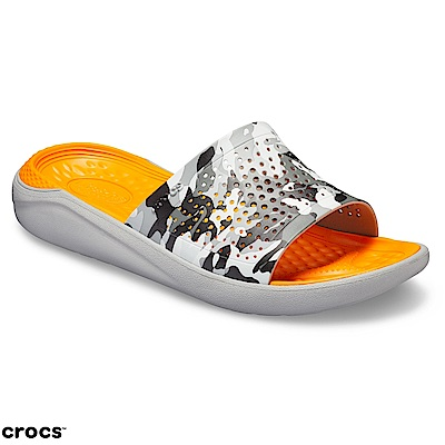 Crocs卡駱馳(中性鞋)LiteRide圖紋平底拖 205361-97A