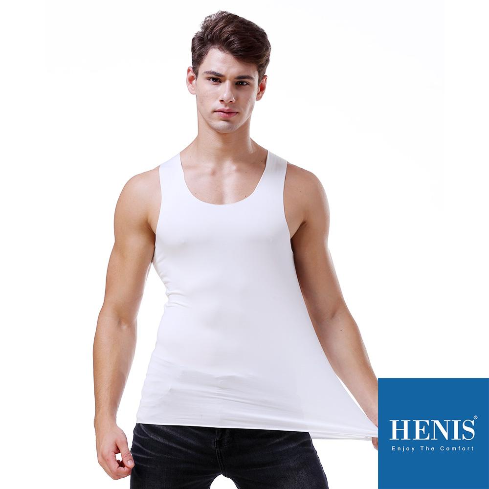 HENIS 沁透無痕 冰絲零著感 隱形背心內衣 (白)