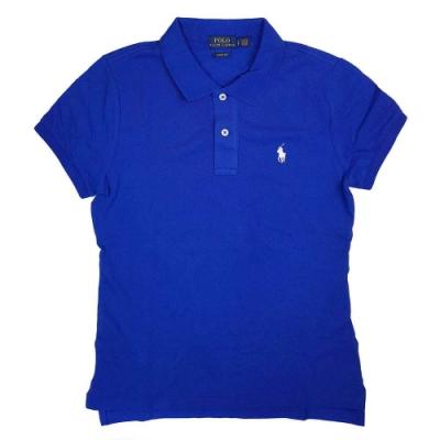 Polo Ralph Lauren 經典小馬Logo寶藍色短袖網眼Polo衫(Skinny Fit)