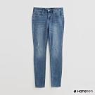 Hang Ten - 女裝 - 自然刷色微破牛仔褲 - 淺藍
