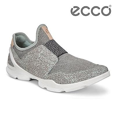 ECCO BIOM STREET 骨瓷皮革 裸足概念套入式運動鞋 女-淺灰