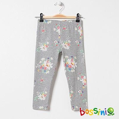 bossini女童-印花針織貼身褲01淺灰
