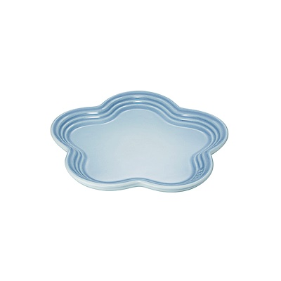 LE CREUSET瓷器花型盤19cm(海岸藍)