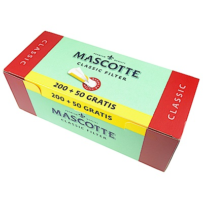 MASCOTTE FILTER TUBES CLASSIC-空煙管-250支裝