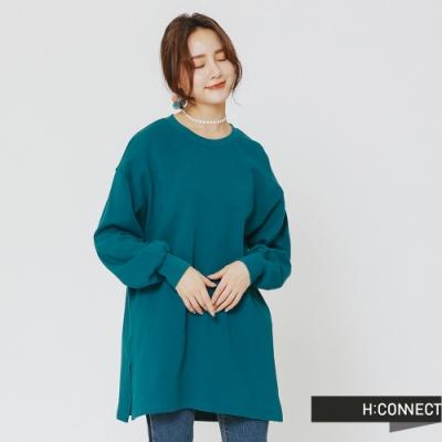 H:CONNECT 韓國品牌 女裝 - 後印字舒適感上衣-綠(快)