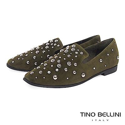 Tino Bellini 搶眼焦點全真皮樂福鞋 _ 綠