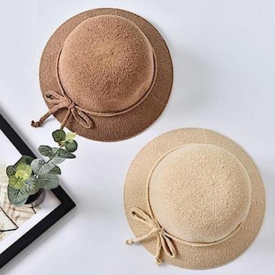 米蘭精品 草帽防曬遮陽漁夫帽-純色百搭夏季時尚女帽子母親節禮物73rp72