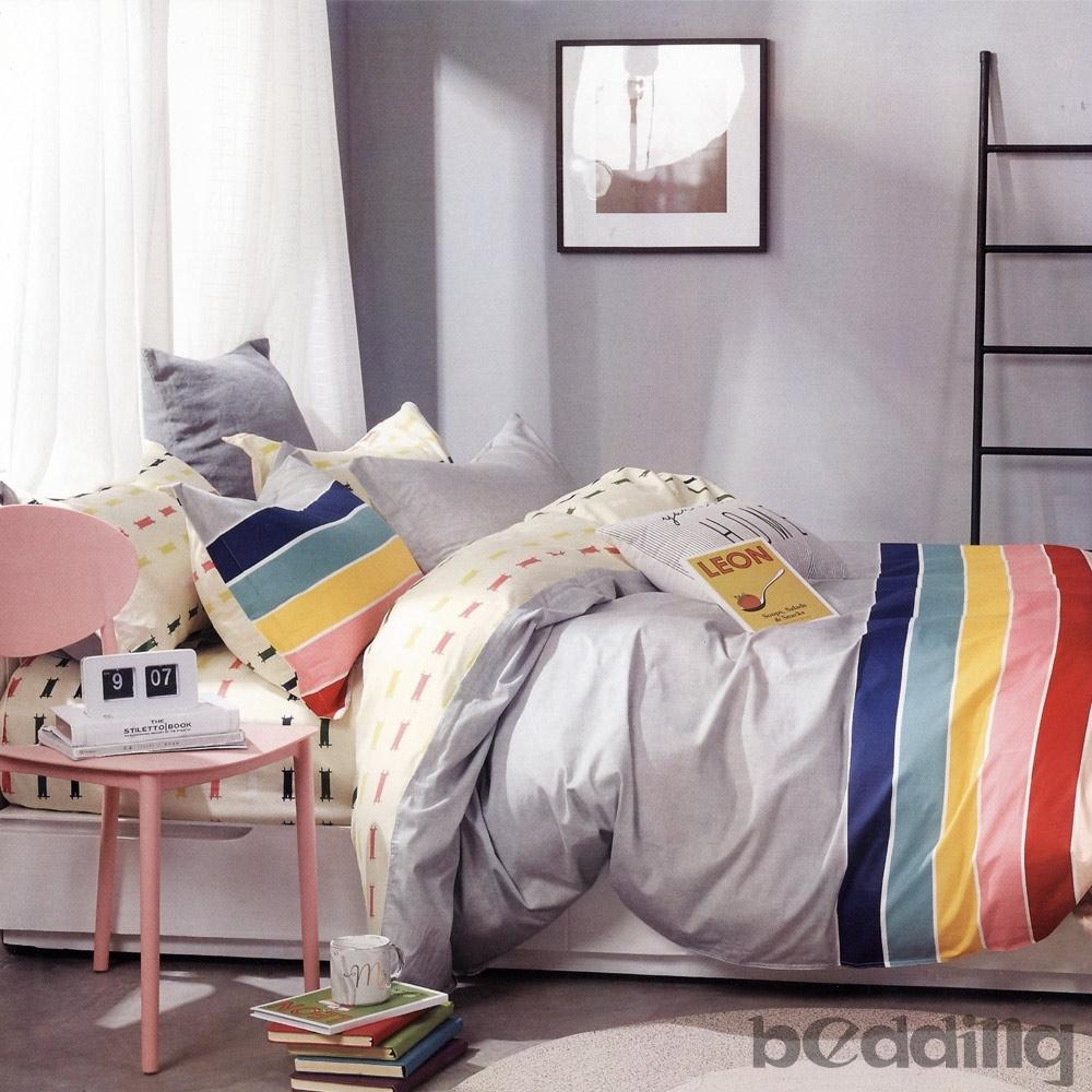 BEDDING-100%棉特大雙人6x7尺薄式床包-多款任選