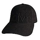 CK Calvin Klein經典刺繡字母LOGO棒球帽(黑)