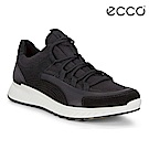 ECCO ST.1 W 舒適動能拼色戶外運動鞋 女-漸層黑