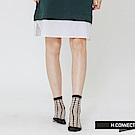 H:CONNECT 韓國品牌 -透膚網格造型襪-黑
