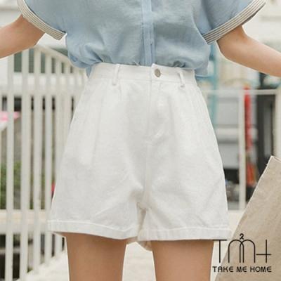 高腰反折牛仔短褲-TMH