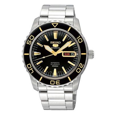 SEIKO 精工SNZH57K1 5號夜光半金機械腕錶x41mm