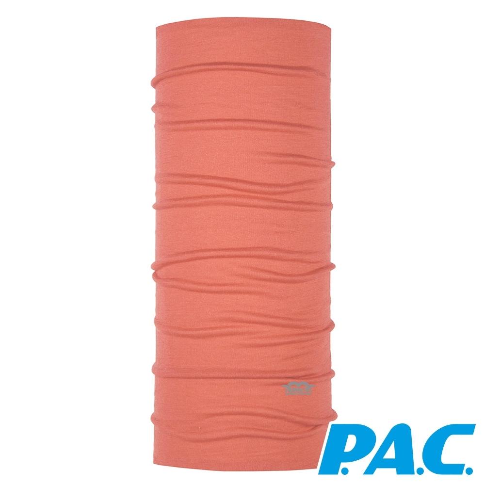 【PAC德國】天然植染美麗諾羊毛透氣抗臭頭巾PAC8818002粉橘