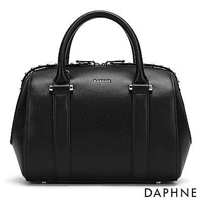 達芙妮DAPHNE-鉚釘裝飾波士頓包-黑
