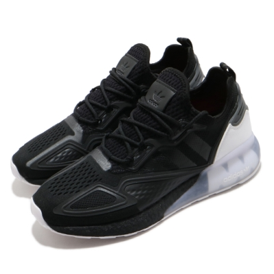 adidas 休閒鞋 ZX 2K Boost 襪套式 男鞋 愛迪達 三葉草 透氣 穿搭 避震 黑 白 FZ2946