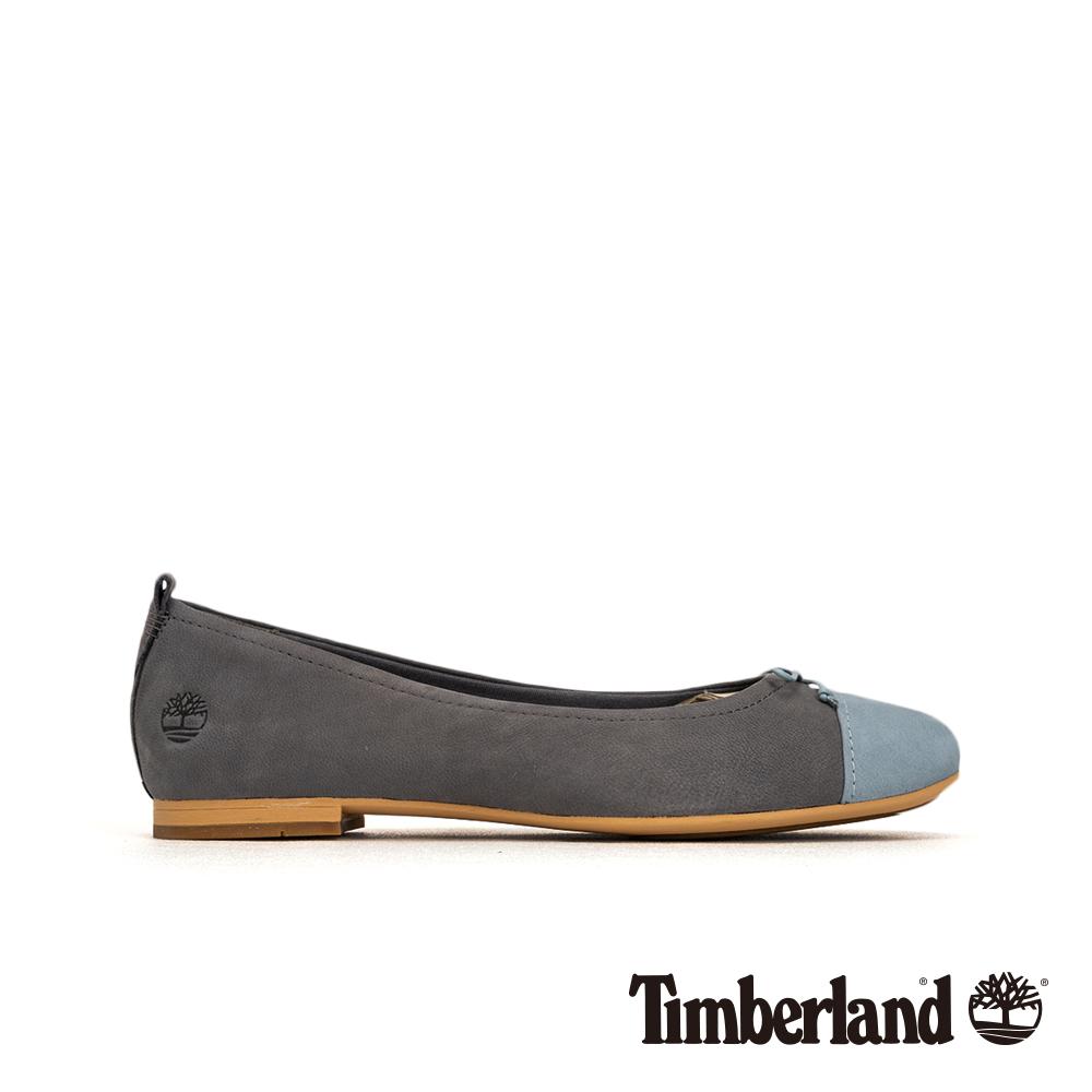 Timberland 女款灰藍色磨砂革撞色芭蕾舞鞋|A1WEZ
