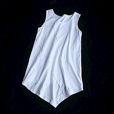 個性不規則寬鬆竹節棉背心內搭上衣-設計所在