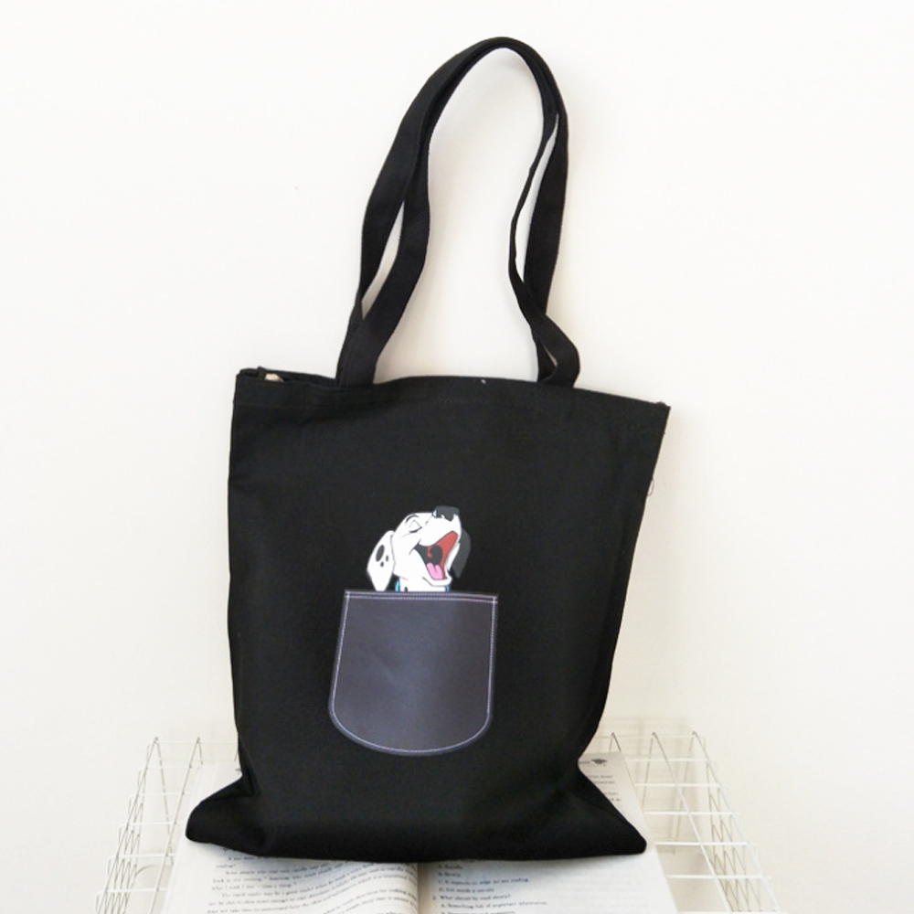 【素包包】小清新可愛探頭貓狗拉鍊側背袋(2色任選)