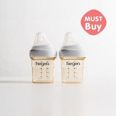 hegen 金色奇蹟PPSU多功能方圓型寬口奶瓶 雙瓶組-150ml